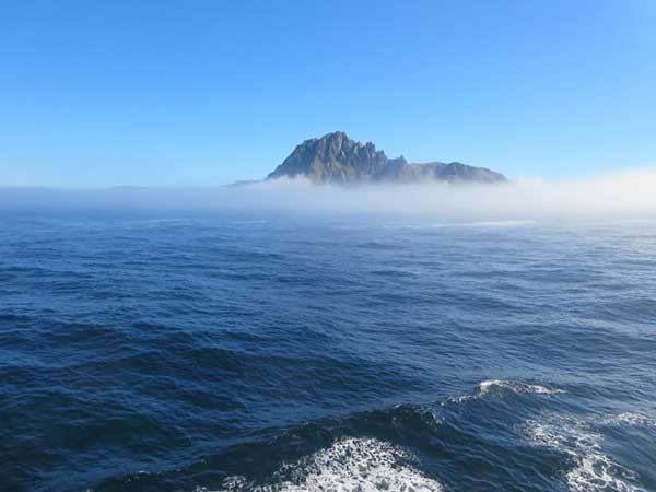 Blue Skies over the ocean at Cape Horn in Patagonia