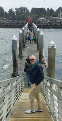 James at the Bandon Pier