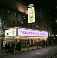 Theater Marquee for the Book of Mormon