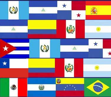 Flags from spanish speaking countries